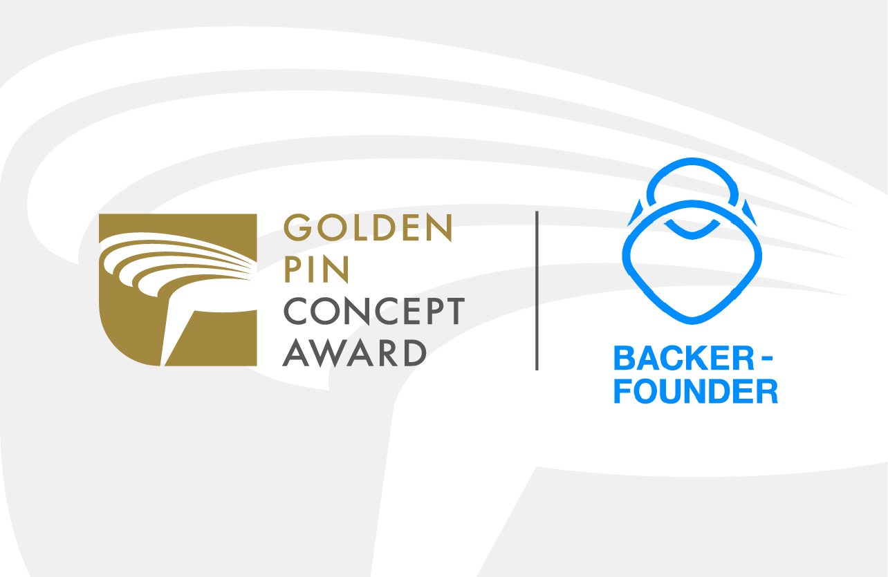Golden Pin Concept Design Award 2018 Partners with Backer-Founder