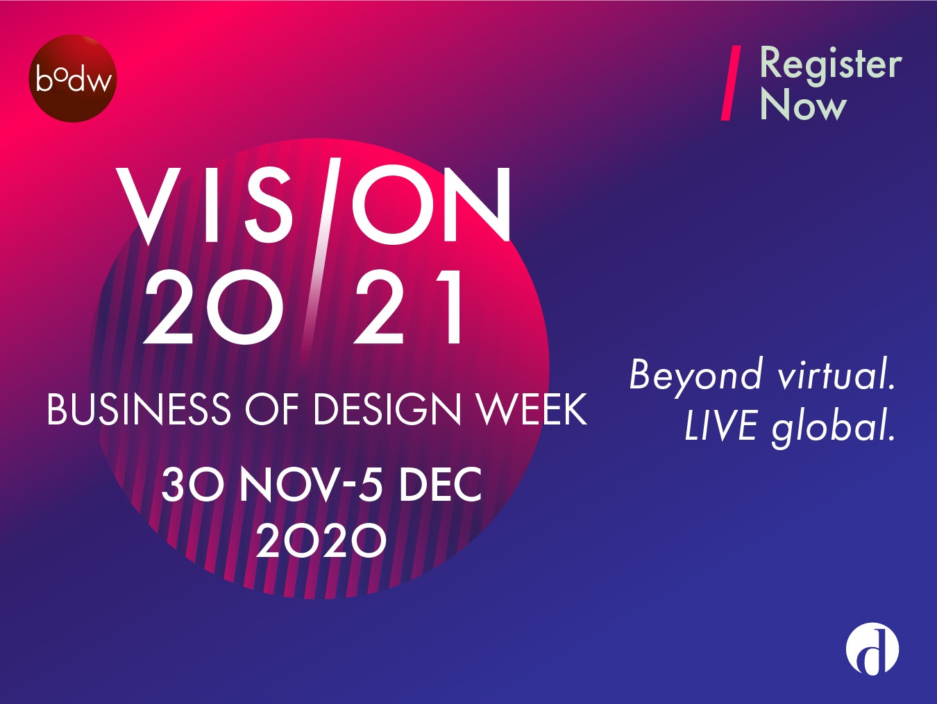 """VISION 20/21"" – Finding Clarity in Uncertainty at Business of Design Week (BODW) 2020"
