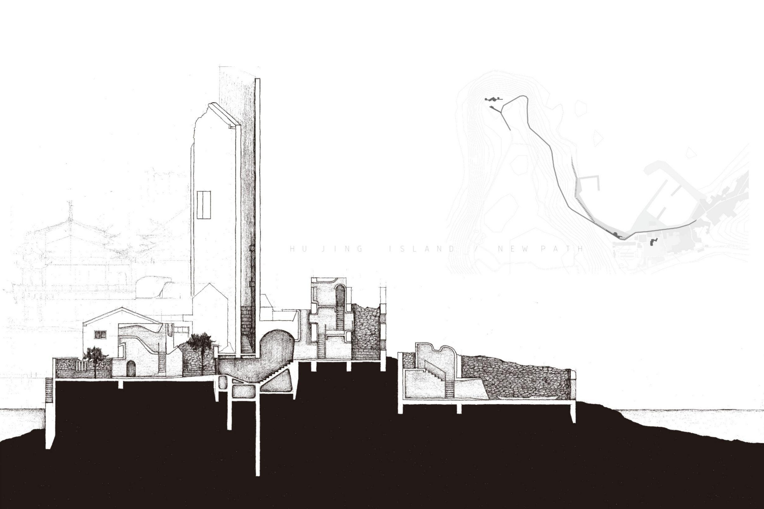 空間設計類:「虎井嶼/新地景」(倪貫倫、吳朝欽,大葉大學空間設計學系)